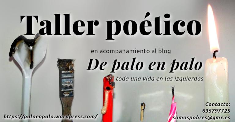 ¿Quieres participar en un Taller poético? ¿Organizar uno?