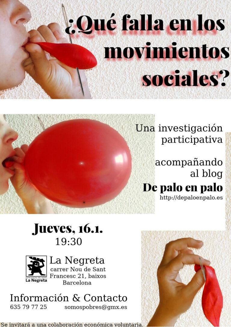 ¿Qué falla en los movimientos sociales? en Barcelona